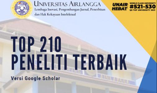 dr. Lukman Hakim, Sp.U (K), MARS, Ph.D Top 210 peneliti terbaik Universitas Airlangga